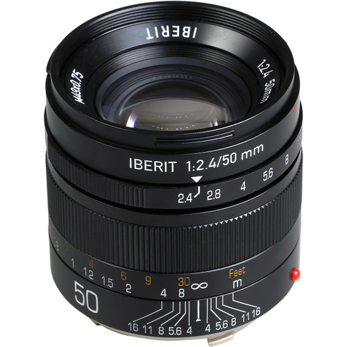 Handevision IBERIT 50mm f/2.4 Lens for Leica M (Black)