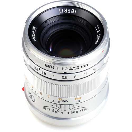 Handevision IBERIT 50mm f/2.4 Lens for Sony E (Silver)