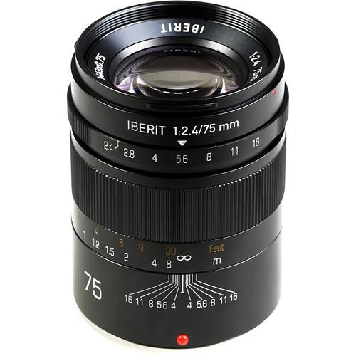 Handevision IBERIT 75mm f/2.4 Lens for Fujifilm X (Black)