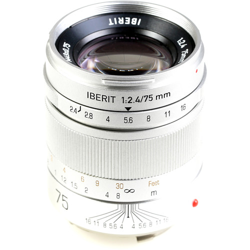 Handevision IBERIT 75mm f/2.4 Lens for Leica M (Silver)