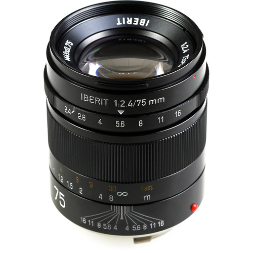 Handevision IBERIT 75mm f/2.4 Lens for Leica M (Black)