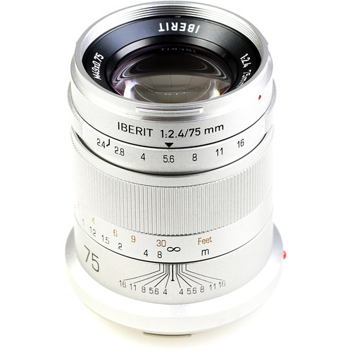 Handevision IBERIT 75mm f/2.4 Lens for Leica L (Silver)