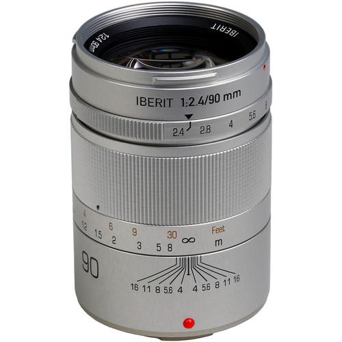 Handevision IBERIT 90mm f/2.4 Lens for Fujifilm X (Silver)