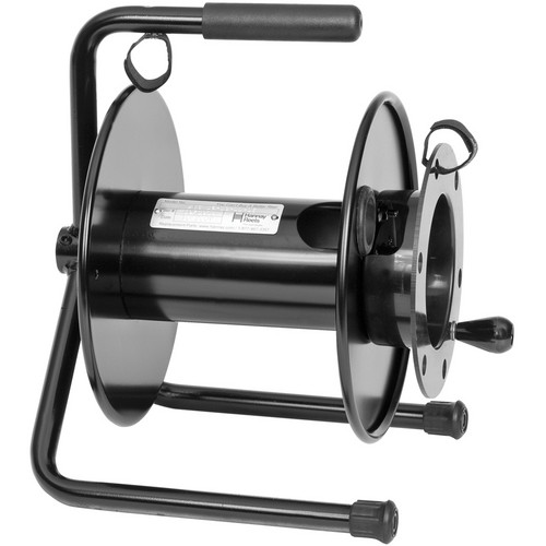 Hannay Reels AVC16-10-11-DE Portable Cable Storage Reel with Drum Extension (Black)