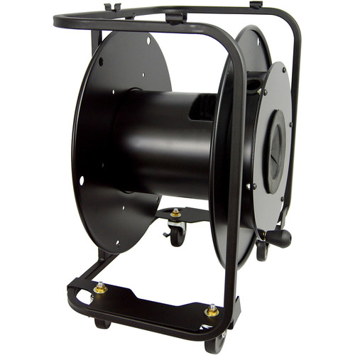 """Hannay Reels AVF-18 Portable Cable Storage Reel with 4"""" Casters"""