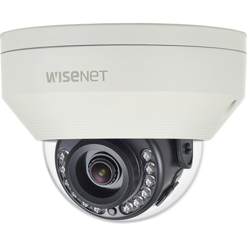 Hanwha Techwin WiseNet HD+ HCV-7020R 4MP AHD Outdoor Dome Camera with Night Vision and 4mm Lens