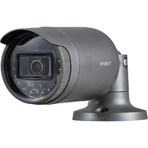 Hanwha Techwin WiseNet LNO-6031R 2MP Outdoor Network Bullet Camera with Night Vision and 6mm Lens