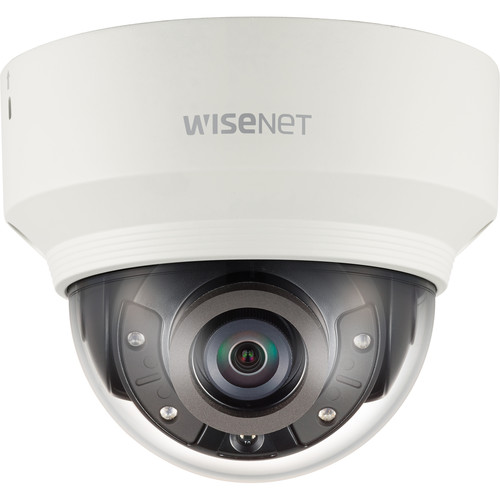 Hanwha Techwin WiseNet X Series 5MP Network Dome Camera with 3.7mm Fixed Lens and Night Vision