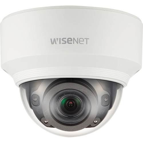 Hanwha Techwin WiseNet X Series 5MP Network Dome Camera with 3.9-9.4mm Varifocal Lens and Night Vision
