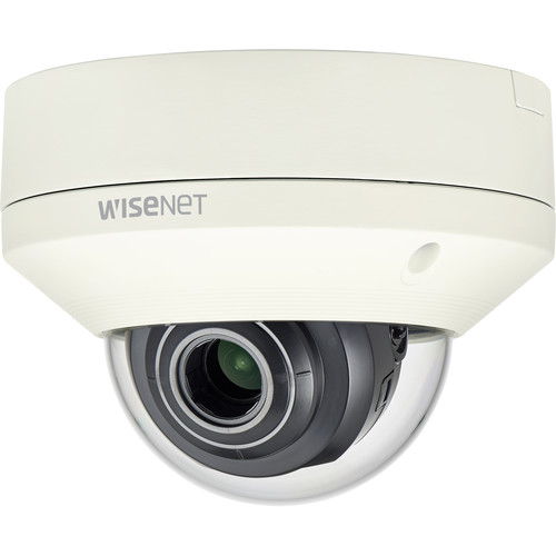 Hanwha Techwin 2MP Outdoor Vandal Dome Camera with 3.2-10mm Motorized Vari-Focal Lens