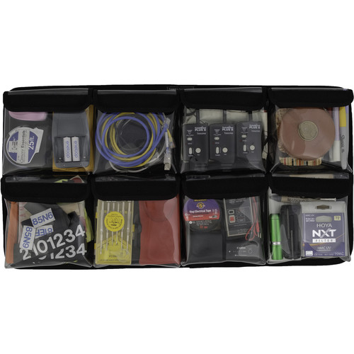 Harrison 8-Pocket Lid Organizer for Pelican 1555 Air Case (Clear)