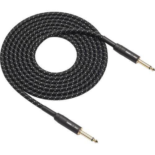 "Samson Tourtek Pro TPIW Series Woven Fabric 1/4"" Male to 1/4"" Male Instrument Cable (10')"