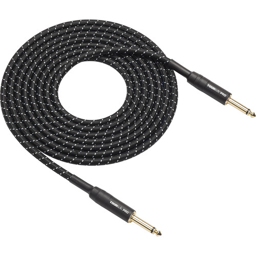 Hartke 25' Woven Instrument Cable, Gold Plug