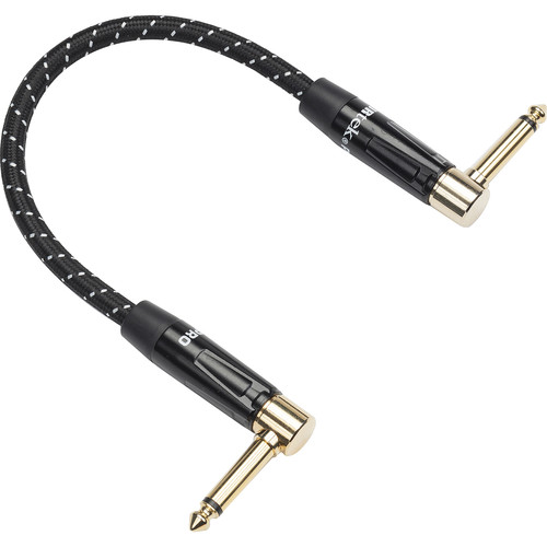 """Samson Tourtek Pro TPWAP Series Woven Fabric Right-Angle 1/4"""" Male to Right-Angle 1/4"""" Male Patch Cable (1')"""