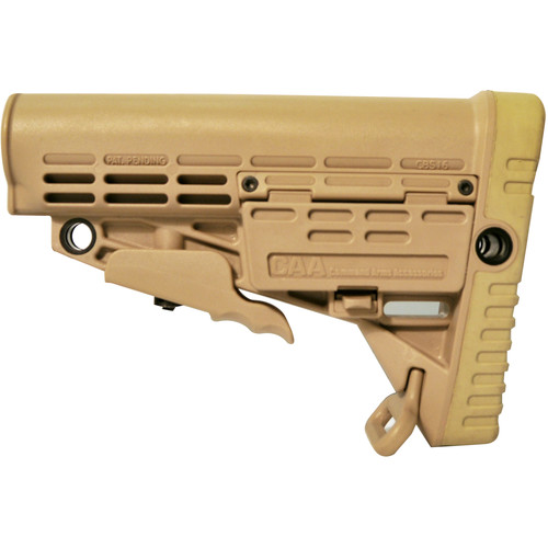 Hartman Collapsible Buttstock for MIL-STD Buffer Tube (Tan)