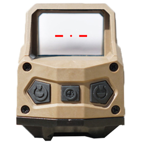 Hartman 1x MH1 Reflex Sight with 2 MOA Red Dot Reticle (Dual Lever, Tan)