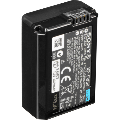 Sony NP-FW50 Lithium-Ion Rechargeable Battery (7.4V, 1020mAh, Bulk Packaging)