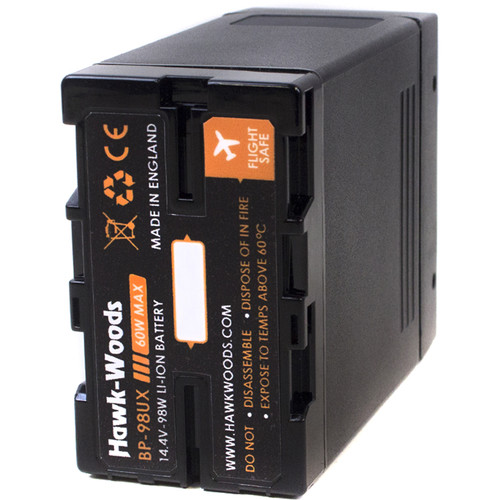 Hawk-Woods BP-98UX 98Wh 14.4V Lithium-Ion Battery with 2 x D-Tap Ports
