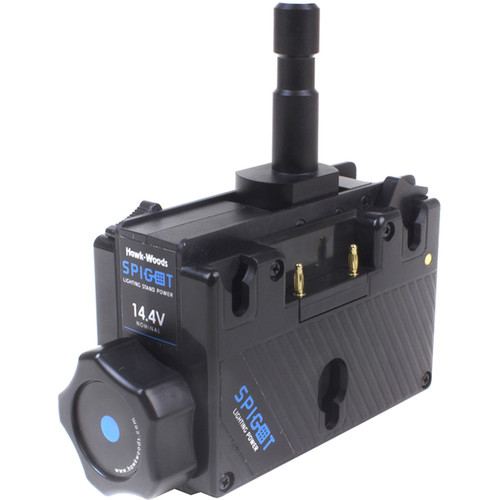 Hawk-Woods SPG-14A Light Stand Dual Battery Power Adapter (14V, Gold Mount)
