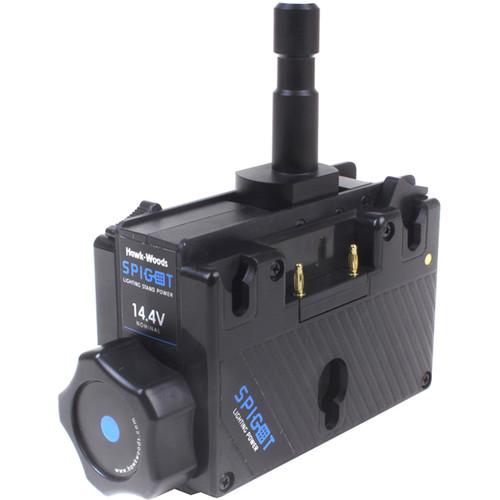 Hawk-Woods SPG-14A Spigot Light Stand Power Adapter (14V, Gold Mount)