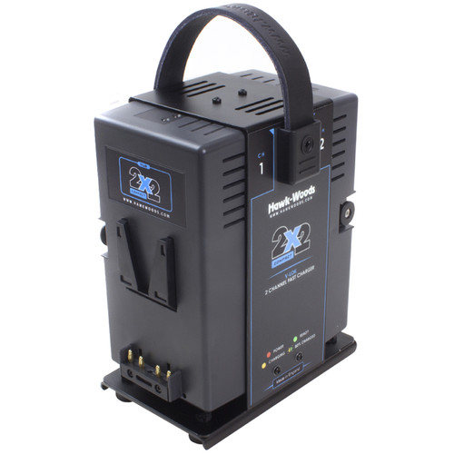 Hawk-Woods 2-Channel Simultaneous Ultra-Fast Charger for V-Lok Batteries