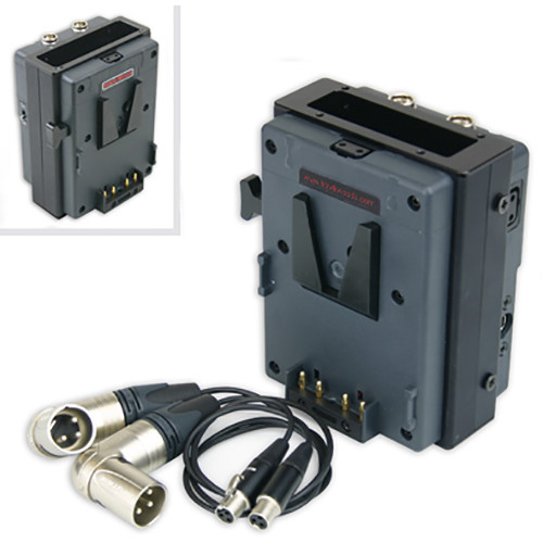 Hawk-Woods VL-RM7 V-Mount Power Holder for Slot-Mount Wireless Receiver with 15-Pin Sub-D Connector on Sony PMW F55/F5 Camcorders