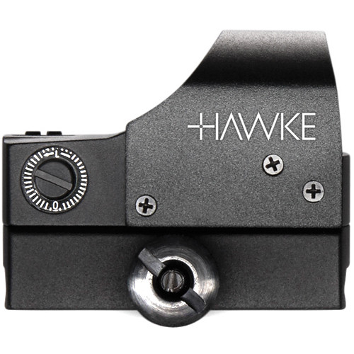 Hawke Sport Optics 1x Red Dot Reflex Sight with Automatic Brightness (5 MOA Dot Reticle, Matte Black)
