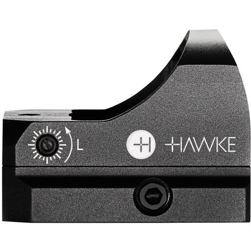 Hawke Sport Optics 1x Micro Reflex Red Dot Sight (5 MOA Red Dot Reticle, Matte Black)