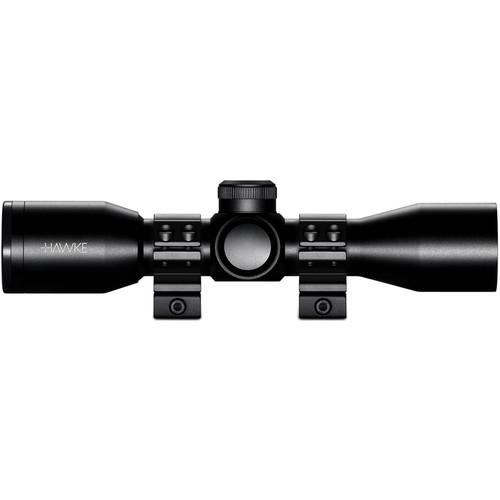 Hawke Sport Optics 3x32 XB Crossbow Scope with Weaver Rings (XB SR Illuminated Reticle)