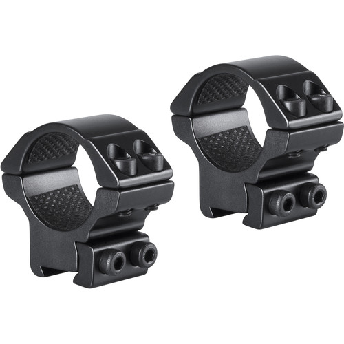 "Hawke Sport Optics 2-Piece Match Mount for 9-11mm Rails (1"", Aluminum, Low, Matte Black)"