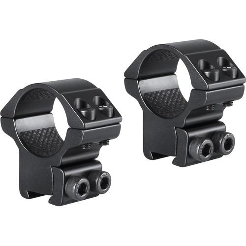 "Hawke Sport Optics 2-Piece Match Mount for 9-11mm Rails (1"", Aluminum, Medium, Matte Black)"