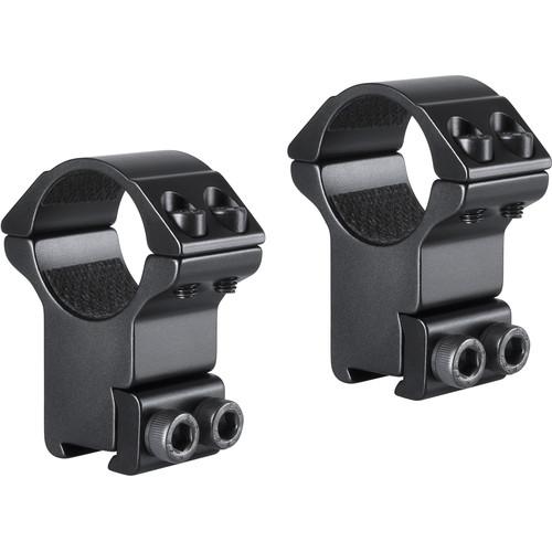 "Hawke Sport Optics 2-Piece Match Mount for 9-11mm Rails (1"", Aluminum, High, Matte Black)"