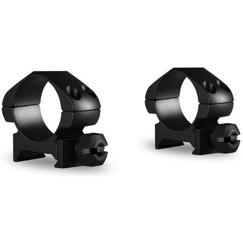 """Hawke Sport Optics Precision Steel Weaver Ring Mounts (1"""", Steel, Low, 2-Pack, Matte Black)"""