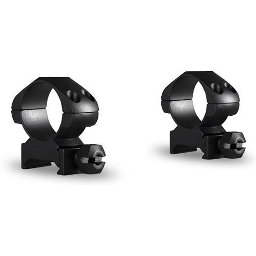 "Hawke Sport Optics Precision Steel Weaver Ring Mounts (1"", Steel, Medium, 2-Pack, Matte Black)"