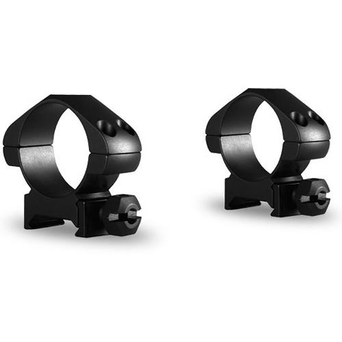Hawke Sport Optics Precision Steel Weaver Ring Mounts (30mm, Steel, Medium, 2-Pack, Matte Black)