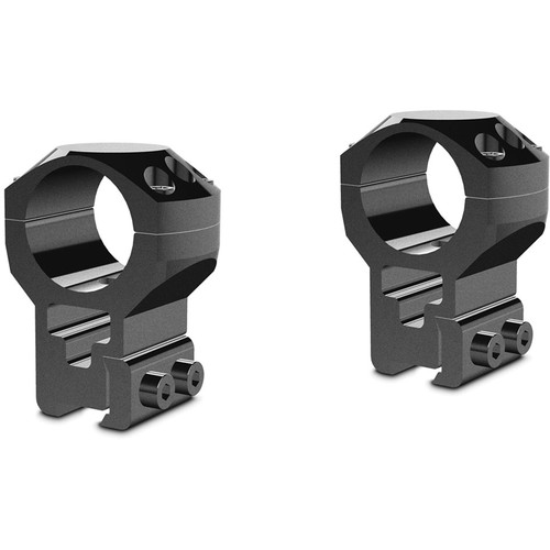 """Hawke Sport Optics Two-Piece Tactical Ring Mounts (1"""", Extra-High, 9-11mm Dovetail, Matte Black)"""