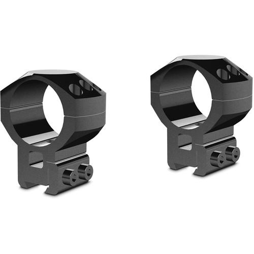 Hawke Sport Optics 2-Piece Tactical Ring Mount for 9-11mm Rails (30mm, Steel, High, Matte Black)