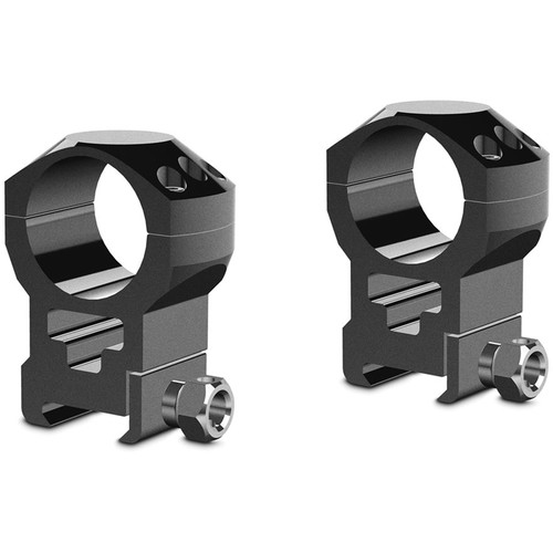 Hawke Sport Optics 2-Piece Tactical Ring Mount for Weaver Rails (30mm, Steel, Extra High, Matte Black)