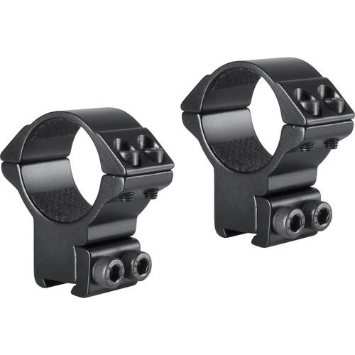 Hawke Sport Optics 2-Piece Match Mount for 9-11mm Rails (30mm, Aluminum, High, Matte Black)