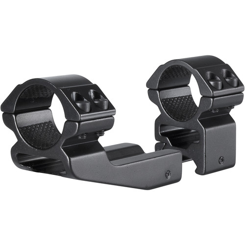 "Hawke Sport Optics 2-Piece Reach Forward Match Mount with 2"" Extension for Weaver Rails (1"", Aluminum, High, Matte Black)"