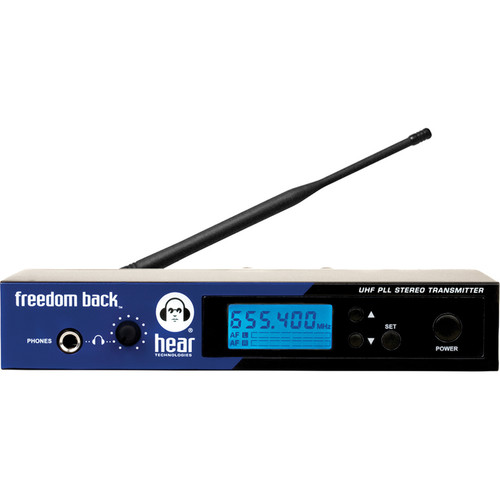 Hear Technologies Freedom Back Transmitter UHF Wireless Transmitter with Rackmount Kit (B: 655 to 679 MHz)