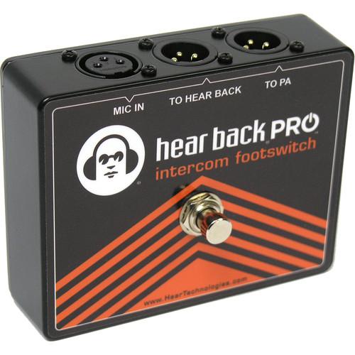 Hear Technologies PRO Intercom Footswitch Microphone A/B Switch