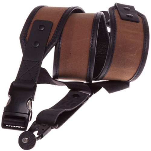 Heavy Leather NYC Wax Slingshot Canvas & Leather Camera Strap (Tan)