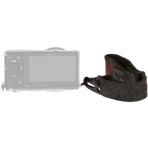 Heavy Leather NYC Wrist Camera Strap (Brown/Black, Leather)