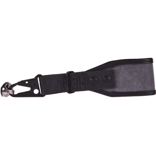 Heavy Leather NYC Wrist Camera Strap (Charcoal/Black, Leather/Wax Cotton)