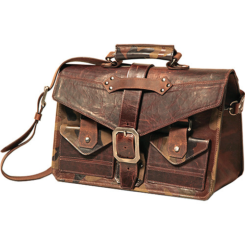 Heavy Leather NYC Military Camera / Laptop Messenger Bag