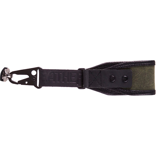 Heavy Leather NYC Wrist Camera Strap (Olive, Leather/Wax Cotton)