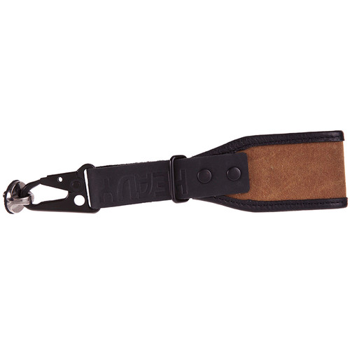 Heavy Leather NYC Wrist Camera Strap (Tan, Leather/Wax Cotton)