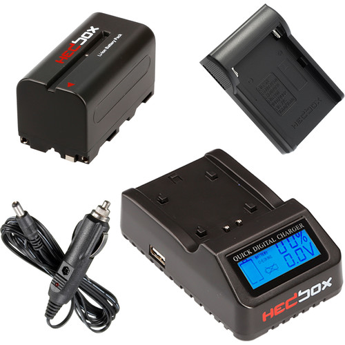 Hedbox NP-F770 Two-Battery with Single Charger Kit (4400mAh)