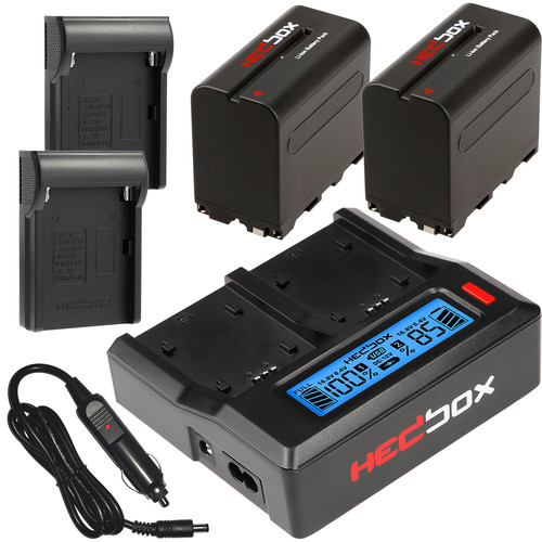 Hedbox NP-F970 Two-Battery with Dual Charger Kit (6600mAh)